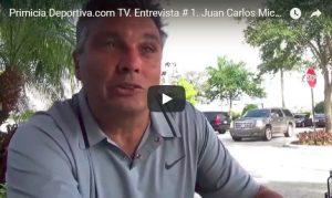 Primicia Deportiva.com TV. Entrevista # 1. Juan Carlos Michia. Buscador de talentos de US soccer.