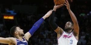 Wade anota 27 y la canasta del triunfo del Heat sobre 76ers