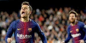 0-2. Coutinho rompe el guion del Valencia y mete al Barça en la final