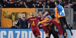 1-0. Un gol de Dzeko mete al Roma en cuartos de final