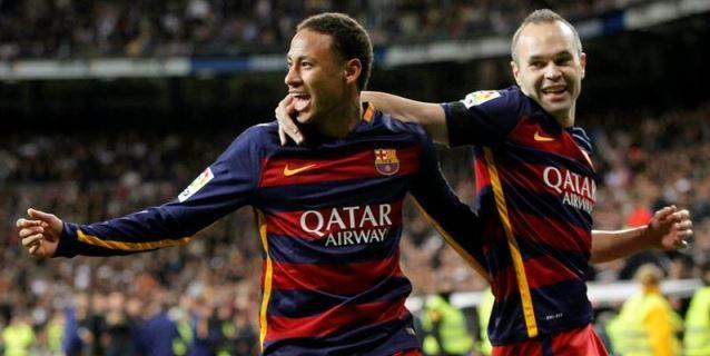 """Neymar a Iniesta : """"Me enamoré de tu fútbol y mucho más de la persona"""""""
