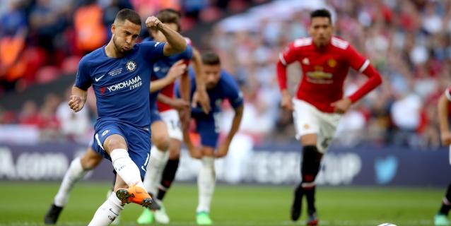Hazard le da al Chelsea la Copa inglesa ante el Manchester United