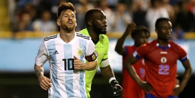 "Argentina se despide con un ""hat-trick"" de Messi en el 4-0 a Haití"