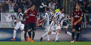 Juventus golea al Milan y celebra la cuarta Copa de Italia seguida