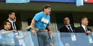 Maradona sufre bajada de tensión y es atendido tras triunfo argentino