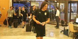 Uruguay aterriza en Sochi para duelo con Portugal con Giménez en duda