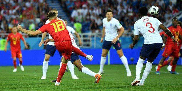 Bélgica vence 1-0 a Inglaterra y avanza como primera a octavos