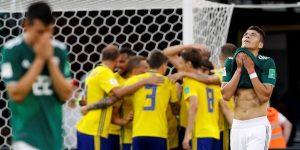 Suecia golea a México pero ambos avanzan por la derrota de Alemania