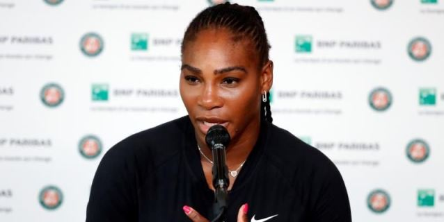 Serena Williams abandona antes de su duelo con Sharapova