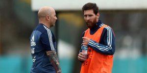 """Sampaoli: """"Messi es un prócer para Argentina, como lo fue Maradona"""""""