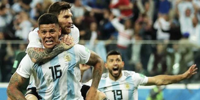 Argentina se clasifica a octavos con un agónico triunfo sobre Nigeria