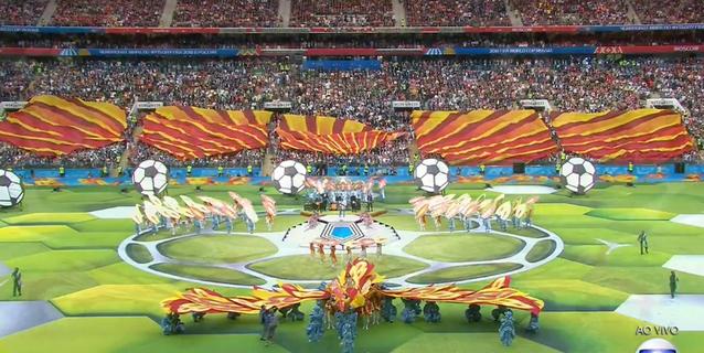 Putin e Infantino aprovechan los focos en la apertura del Mundial