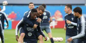 Francia se entrena con Griezmann y sin Mendy antes de viajar