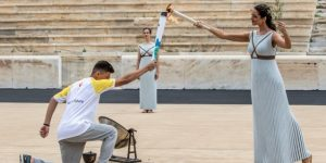 Encienden la antorcha de los Juegos de la Juventud de Buenos Aires