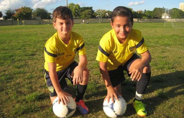 Michael 'Palermito' Morales y Rafael 'El Patron' Zelaya. Dos jovenes jugadores y aporte de la academia Boca Juniors Los Xeneixes. (Foto: Primicia Deportiva.com)
