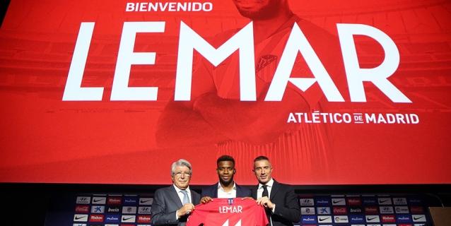 El Atlético presenta a Lemar, su multimillonario fichaje