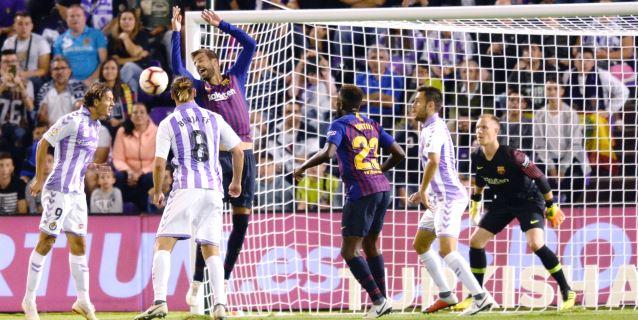 0-1. Dembélé da victoria al Barcelona ante un Valladolid valiente y entregado