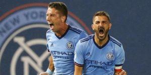 1-1. Villa salva un punto para el New York City que acaba con nueve jugadores