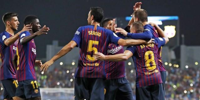 Dembélé y Ter Stegen ganan la Supercopa española para el Barcelona