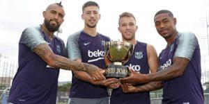 El Barcelona de Messi presenta a sus fichajes ante el Boca de Tevez