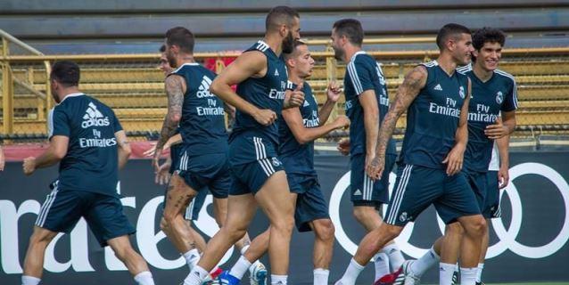 El Real Madrid completa la última sesión en Miami a la espera de la vuelta de Modric