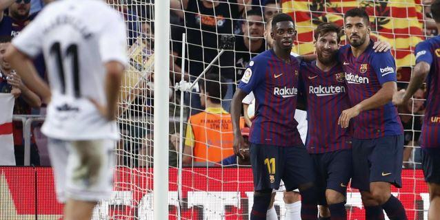 8-2. El Barça se da un festín para acceder al liderato