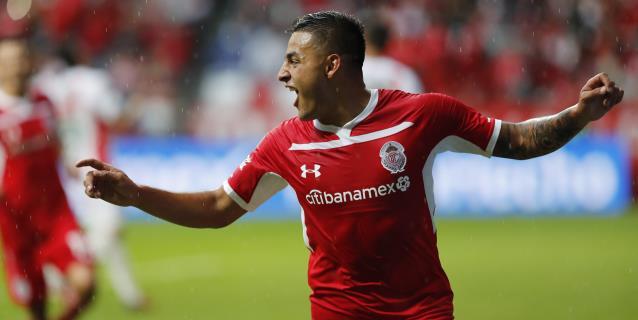 Toluca vence al Necaxa y salta al tercer lugar del Apertura mexicano