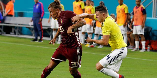 1-2. Colombia vence a Venezuela en primer amistoso tras la salida de Pekerman