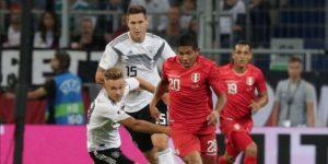 Alemania vence por 2-1 a un enérgico Perú en amistoso en casa