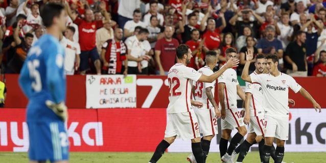 3-0. El Sevilla fulmina al Madrid con una gran primera mitad y le da un baño de realidad