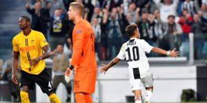 3-0. Un triplete de Dybala lanza al Juventus, con Cristiano en la grada