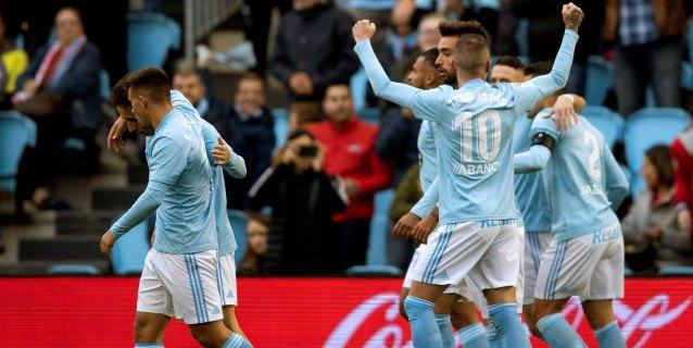 4-0. Iago Aspas, con un triplete, salva a Antonio Mohamed