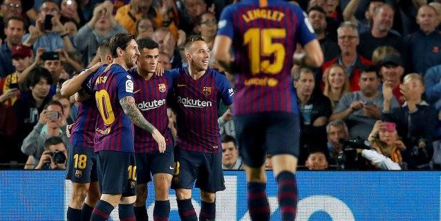 4-2. El Barça recupera el liderato, pero pierde a Messi