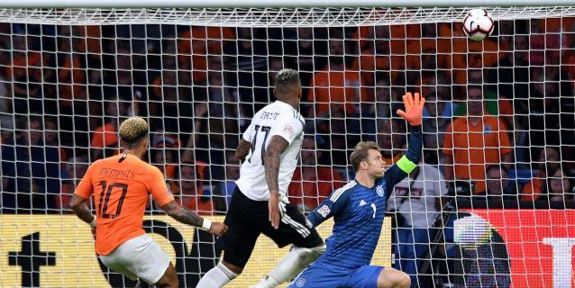 3-0. Un inmenso Depay lidera a Holanda contra una Alemania sin pegada