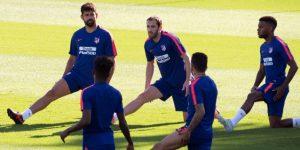 Diego Costa, Savic, Lucas, Koke y Lemar, listos para recibir al Barcelona