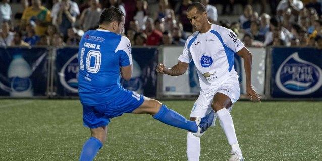 Rivaldo, Cafú, y otras leyendas vencen a la selección de la Liga Primera Nicaragua