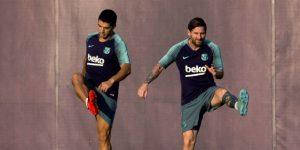 Messi vuelve a entrenarse y Umtiti empieza a trabajar con el grupo