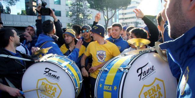 Color e ilusión en el multitudinario 'banderazo' de Boca Juniors