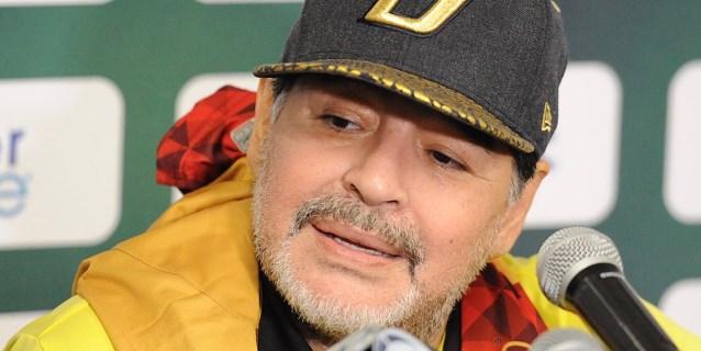 Maradona reaparecerá con los Dorados de Sinaloa el 5 de enero ante el Celaya