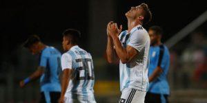 0-1. Argentina resucita con un gol de Maroni ante Uruguay y deja todo abierto