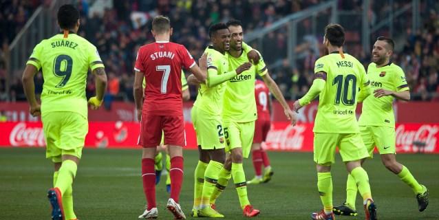0-2. Messi sentencia a un Girona con diez