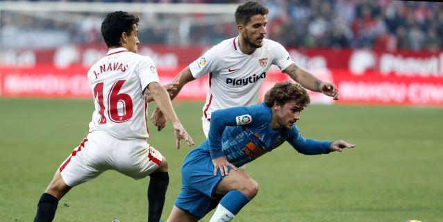 1-1. El Atlético mantiene la segunda plaza ante un Sevilla que expuso más