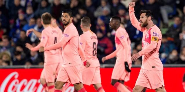 1-2. Messi y Suárez alivian la angustia del Barcelona en Getafe