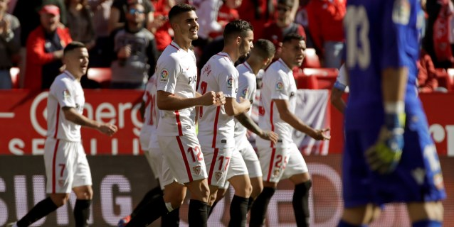 5-0. El Sevilla se desmelenó en la segunda parte