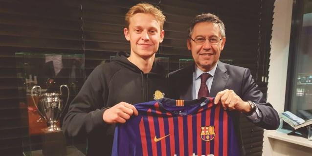 El Barça ficha a Frenkie de Jong (Ajax) para las próximas cinco temporadas