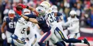NFL: 41-28.El novato Michel lleva a Patriots a la final de Conferencia Americana