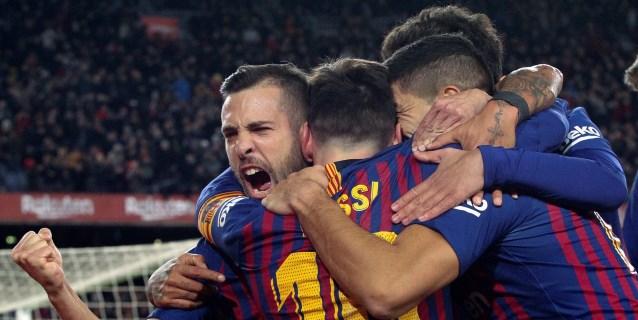 6-1. El campeón golea al Sevilla y se clasifica para semifinales