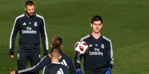 Benzema y Courtois se entrenan con el grupo pensando en la visita del Sevilla