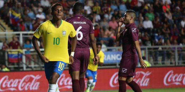 2-1. Con un doblete de su estrella Rodrygo, Brasil vence a Venezuela