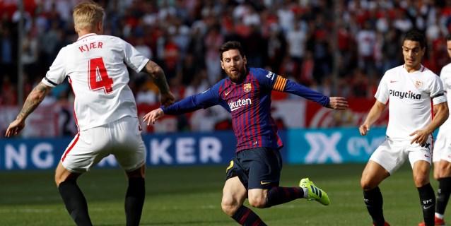 Messi emula a Pelé en su celebración del 2-2 ante el Sevilla